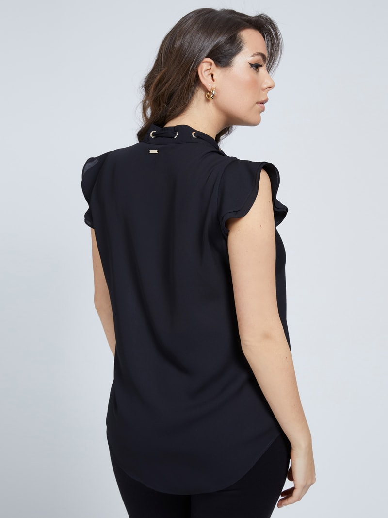 MARCIANO EMBROIDERED TOP image number 2