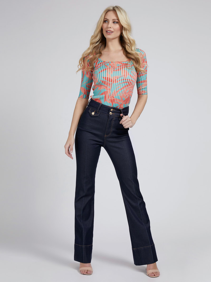 MARCIANO FLORAL PRINT SWEATER  image number 1