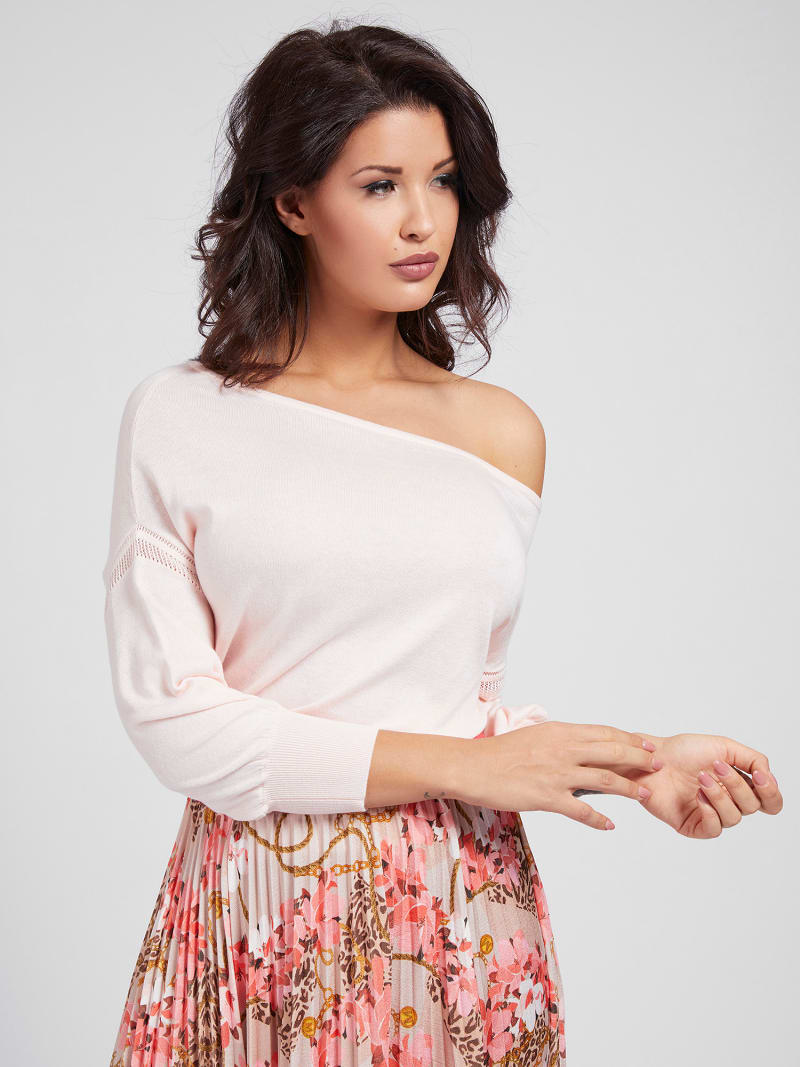 MARCIANO OFF-SHOULDER SWEATER  image number 0