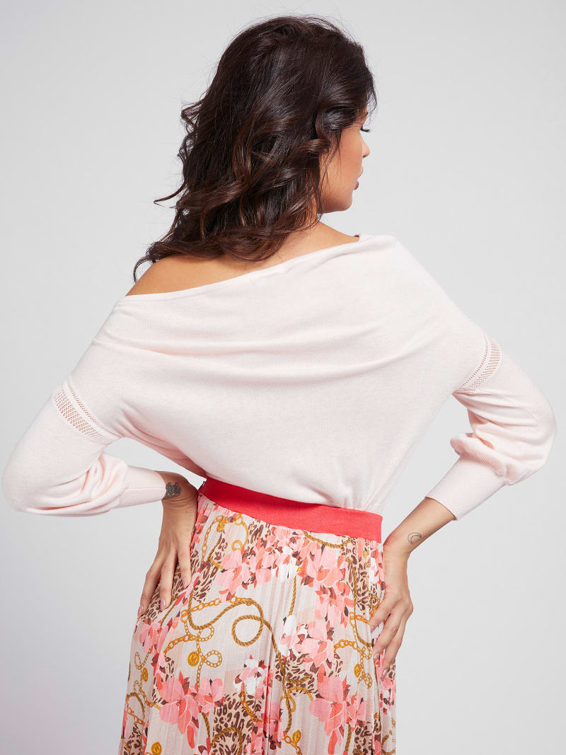 MARCIANO OFF-SHOULDER SWEATER  image number 2