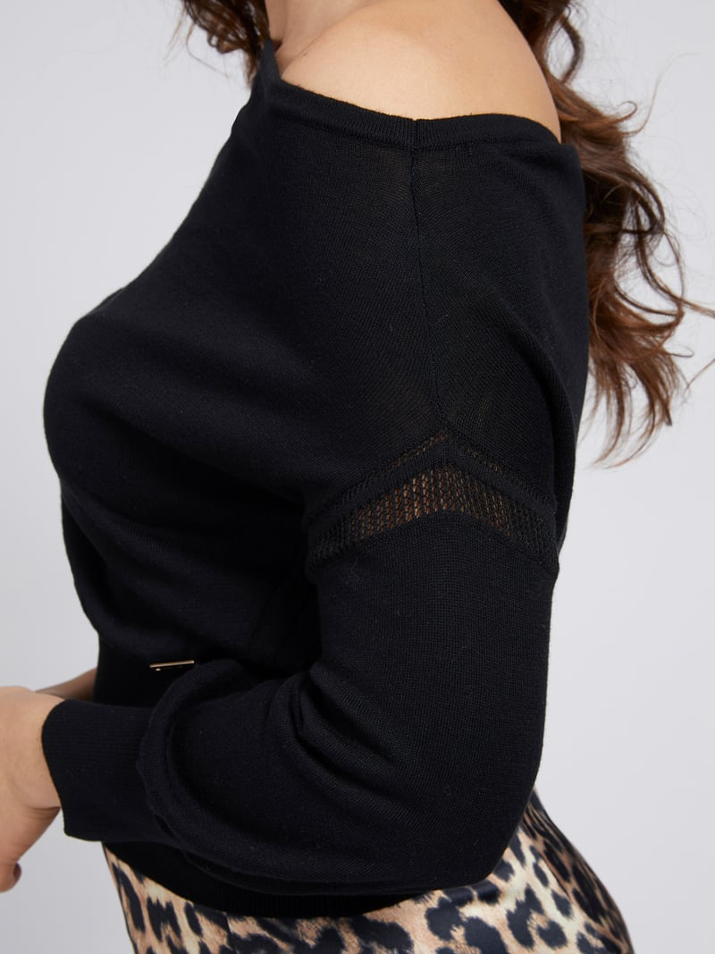 MARCIANO OFF-SHOULDER SWEATER  image number 3