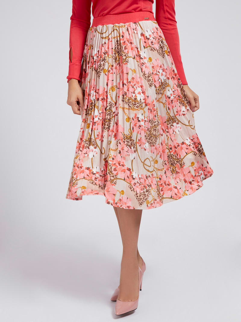 MARCIANO PRINT JERSEY SKIRT image number 0