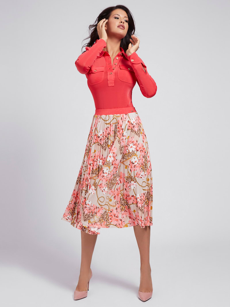 MARCIANO PRINT JERSEY SKIRT image number 1