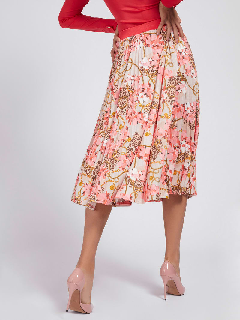MARCIANO PRINT JERSEY SKIRT image number 2