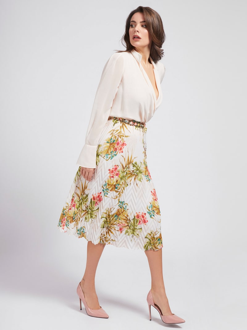 MARCIANO FLARED SKIRT image number 1