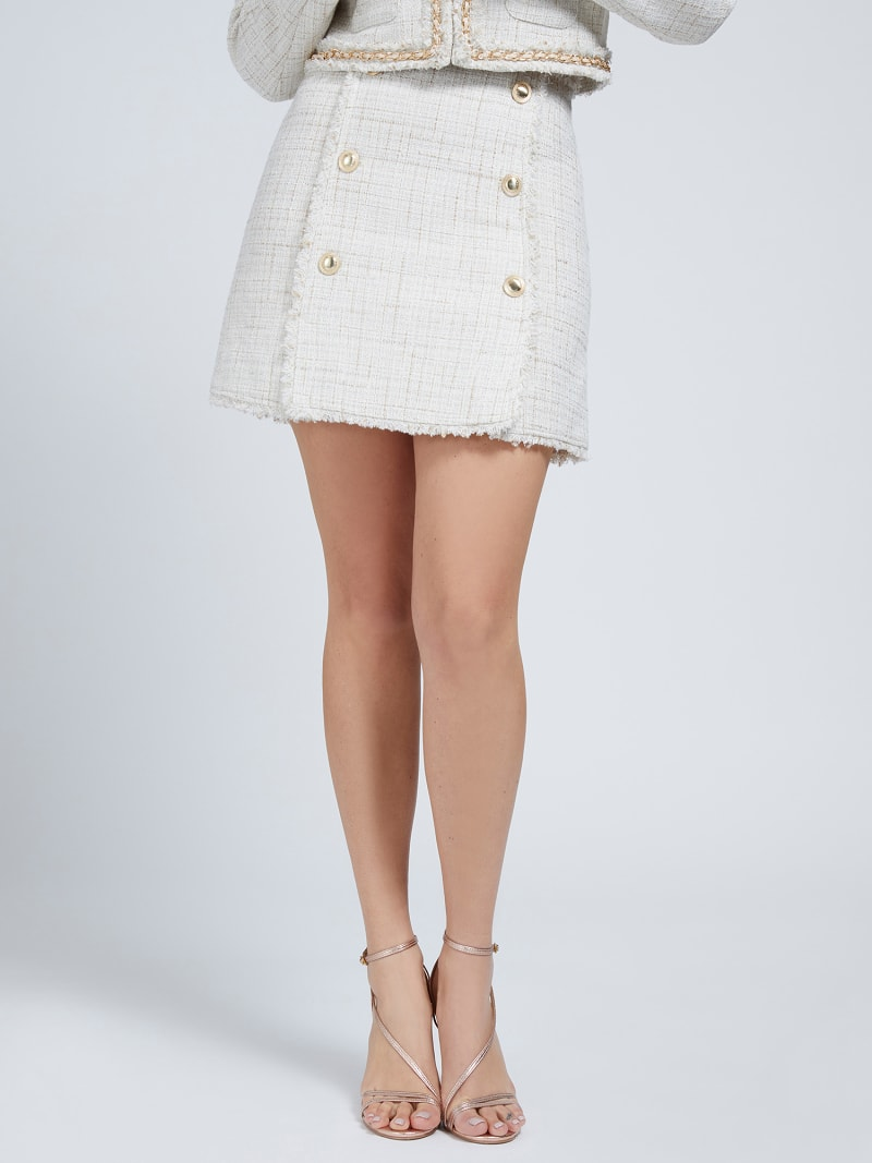 MARCIANO TWEED MINI SKIRT image number 0