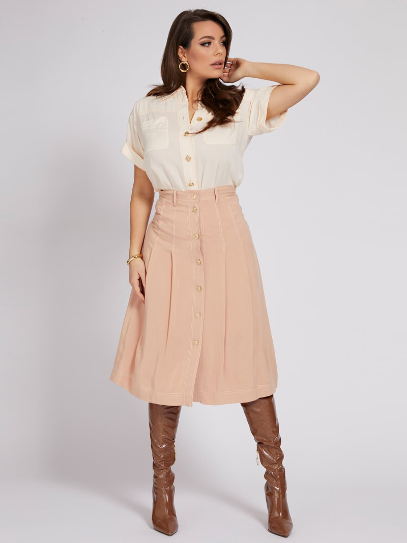 MARCIANO SKIRT BUTTONS  image number 1