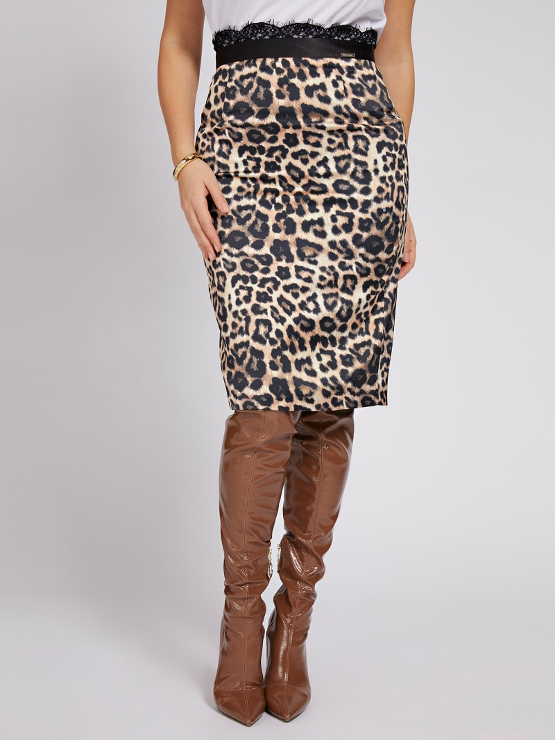 MARCIANO ANIMALIER PRINT SKIRT image number 0