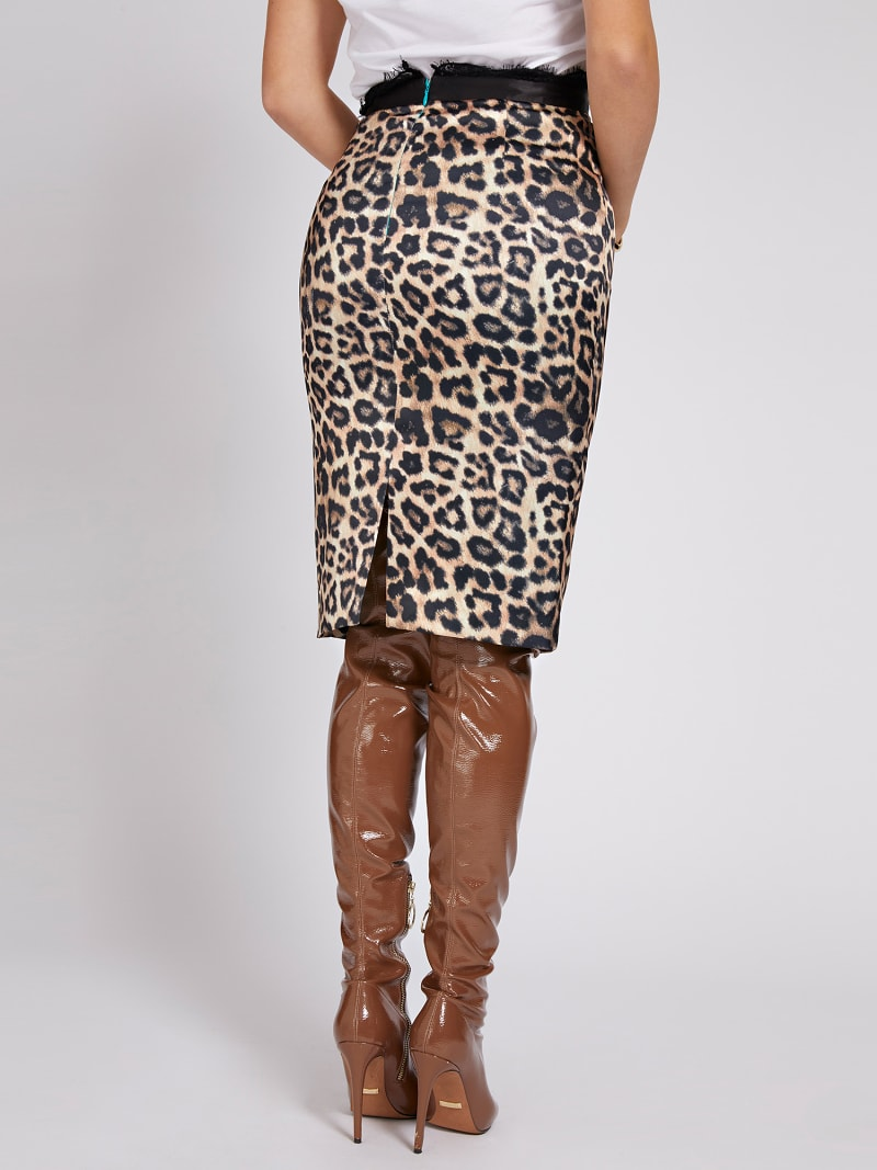 MARCIANO ANIMALIER PRINT SKIRT image number 2