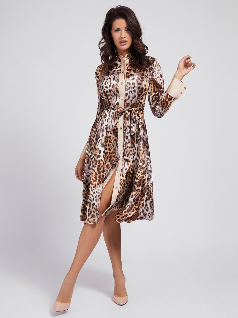 MARCIANO ANIMALIER PRINT DRESS image number 0