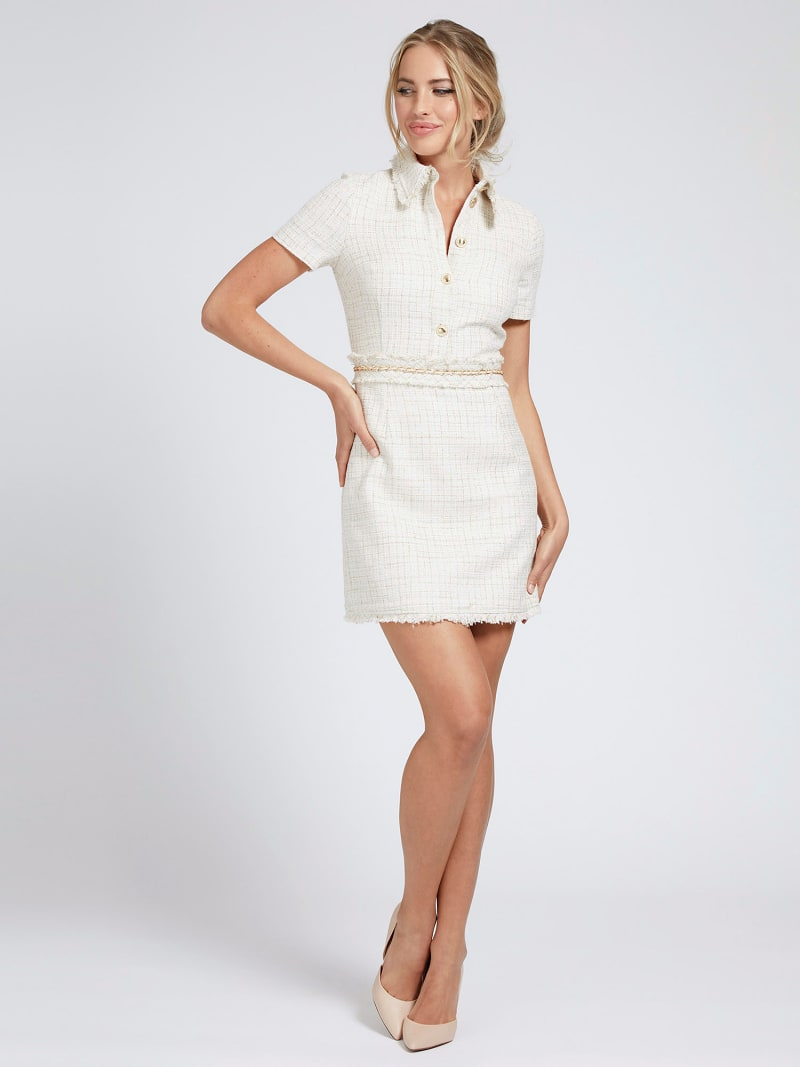 MARCIANO TWEED-LOOK DRESS image number 1