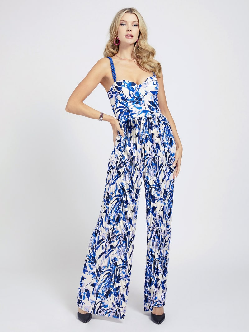 MARCIANO FOLIAGE PRINT JUMPSUIT image number 0