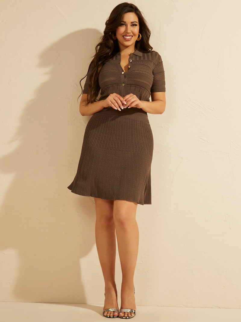 MARCIANO FIT AND FLARE DRESS  image number 1