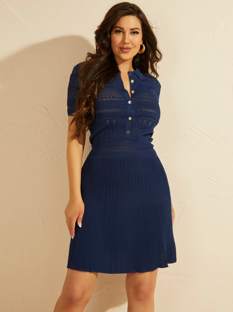 MARCIANO FIT AND FLARE DRESS  image number 0