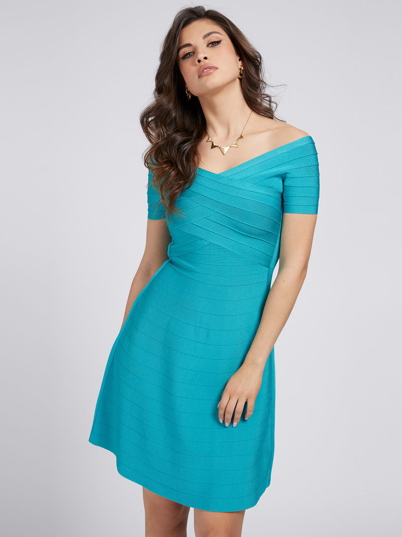 MARCIANO OFF-SHOULDER DRESS image number 0