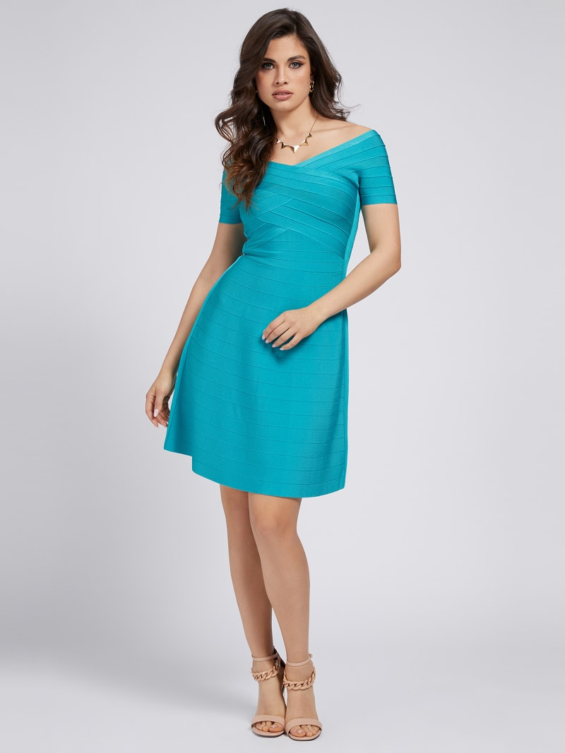 MARCIANO OFF-SHOULDER DRESS image number 1
