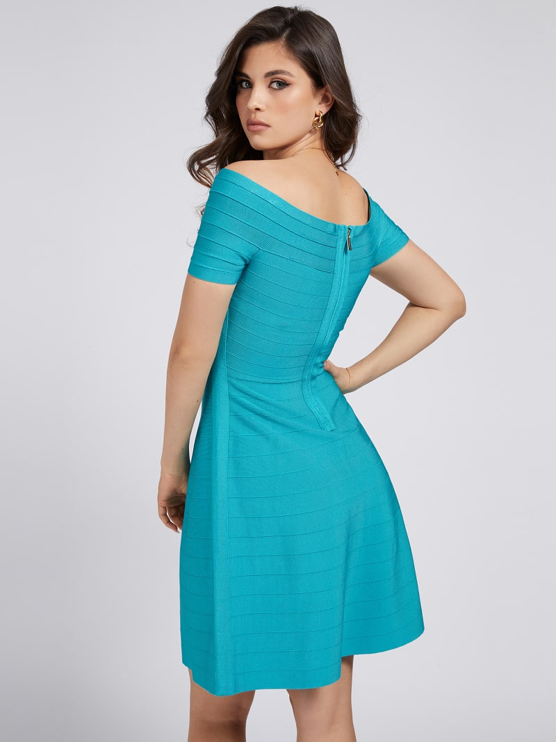 MARCIANO OFF-SHOULDER DRESS image number 2