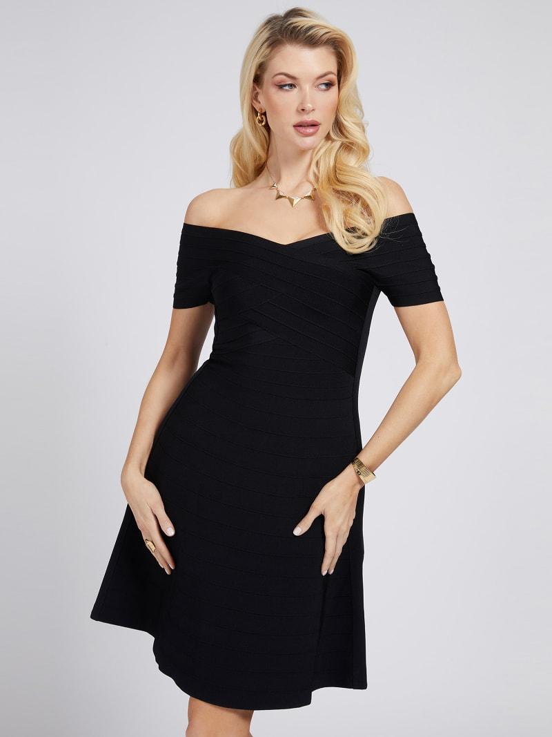 MARCIANO OFF-SHOULDER DRESS image number 0