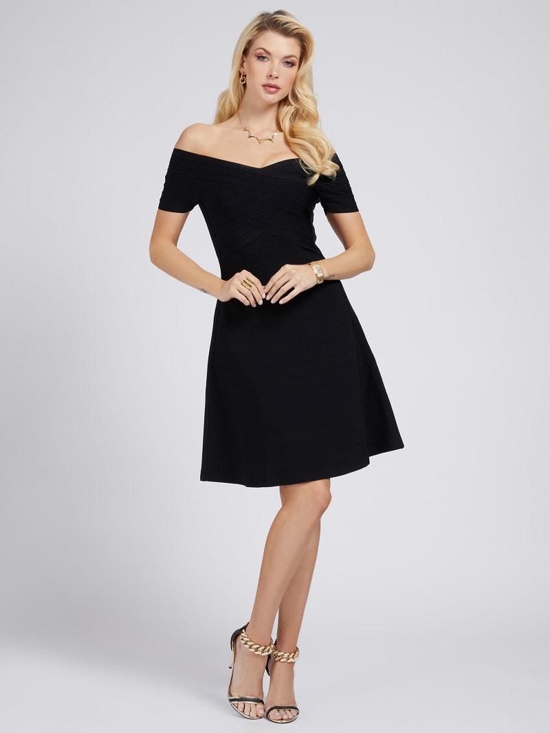 MARCIANO OFF-SHOULDER DRESS image number 1