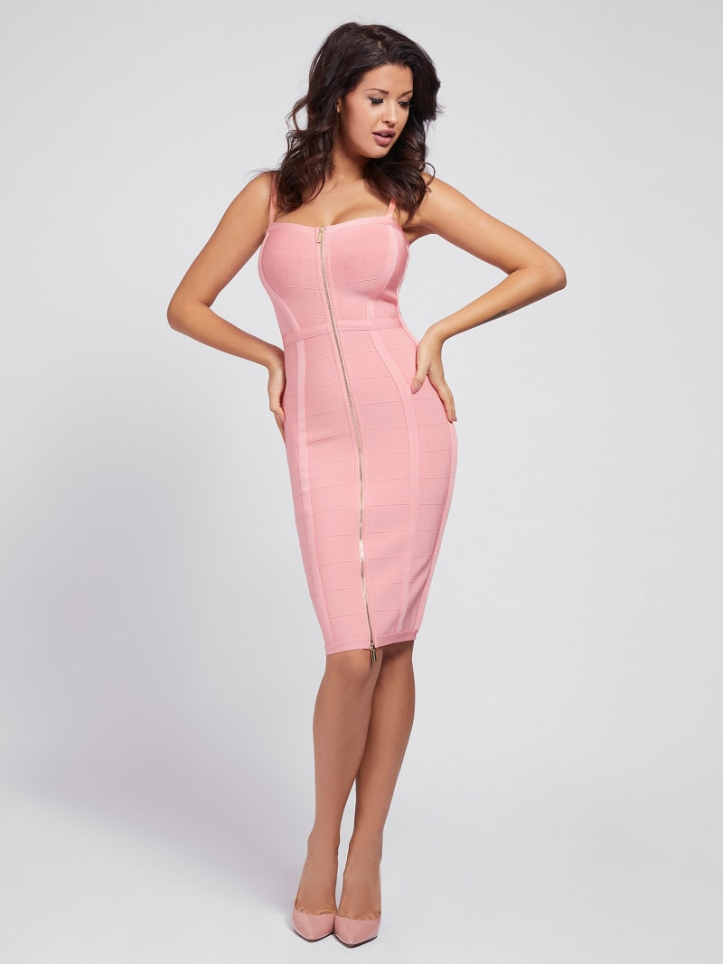 MARCIANO DRESS FRONT ZIP image number 0