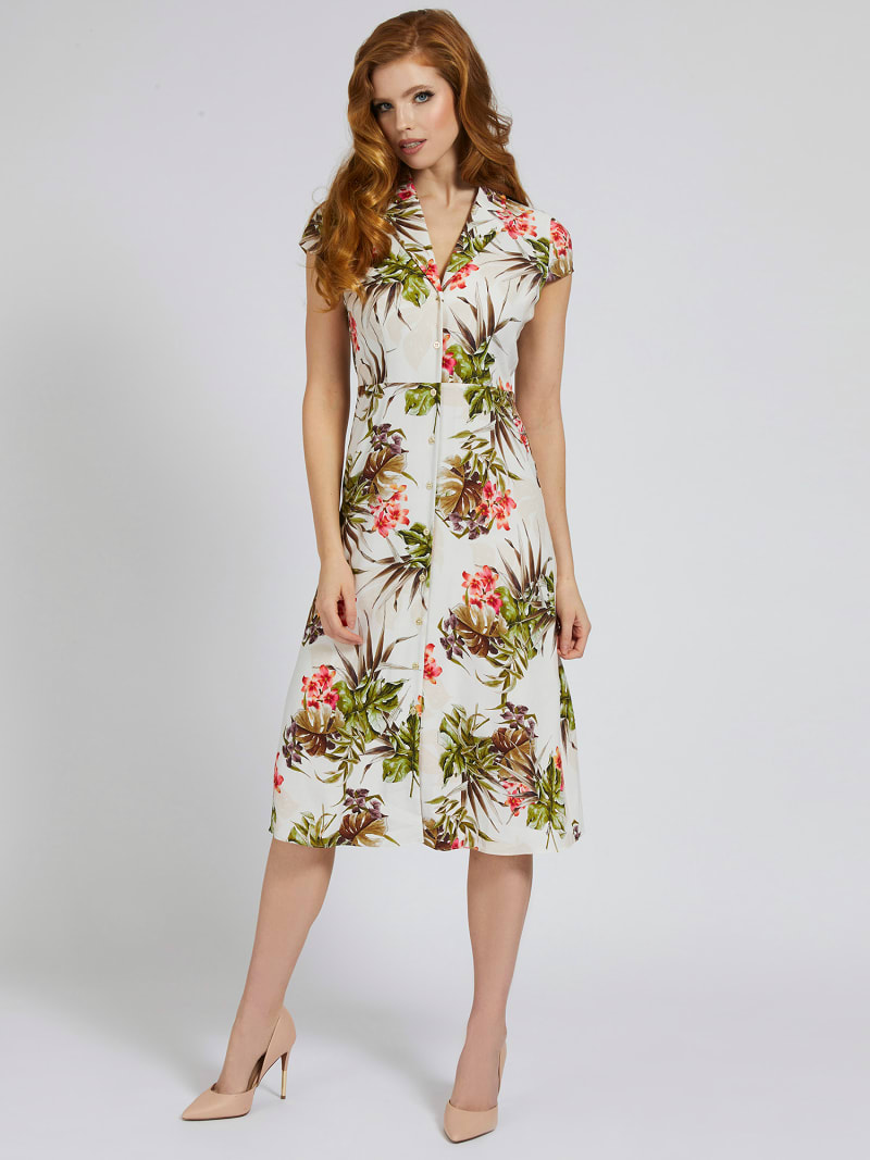 MARCIANO FLORAL LONG DRESS image number 0