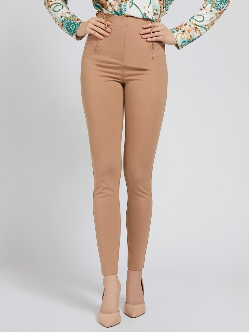 MARCIANO SKINNY PANT ZIPS image number 0