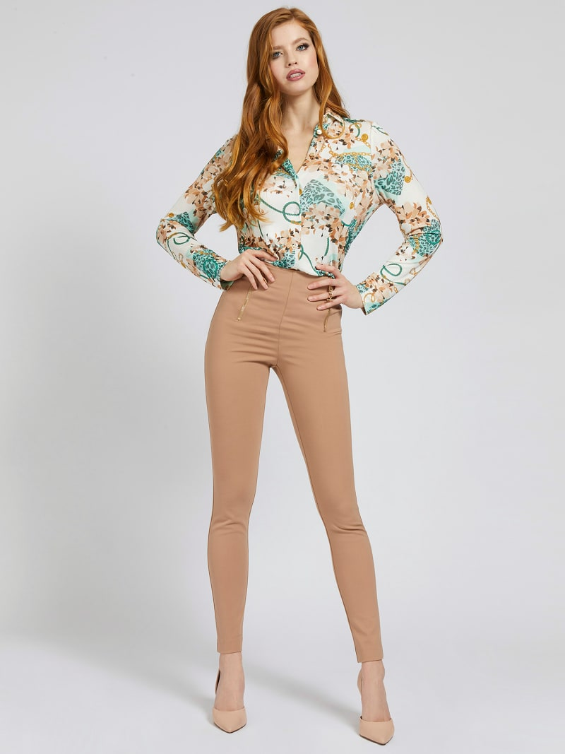 MARCIANO SKINNY PANT ZIPS image number 1