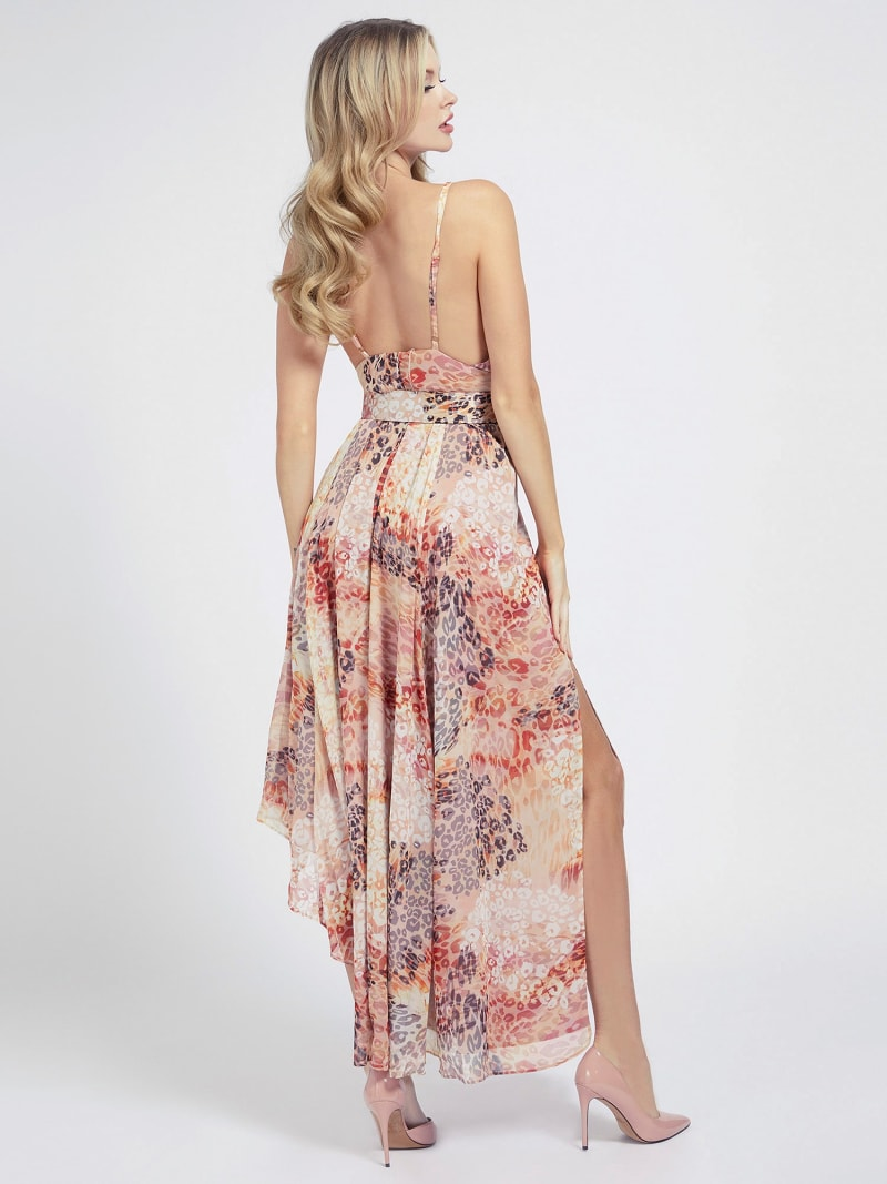 MARCIANO BELTED LONG DRESS image number 1