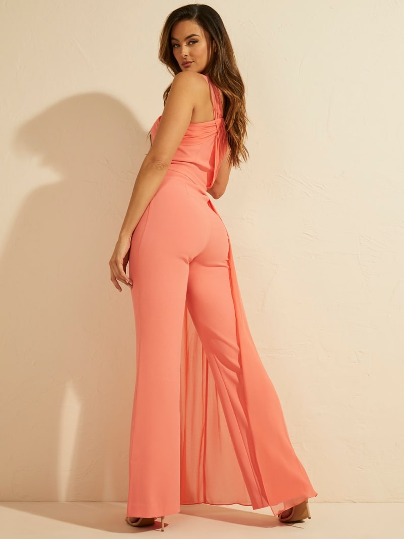 MARCIANO DRAPED JUMPSUIT image number 4