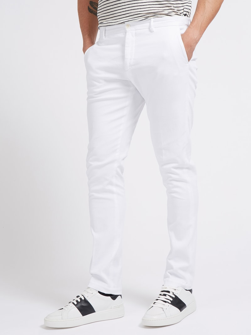 PANTALONE TINTO IN CAPO MARCIANO  image number 0