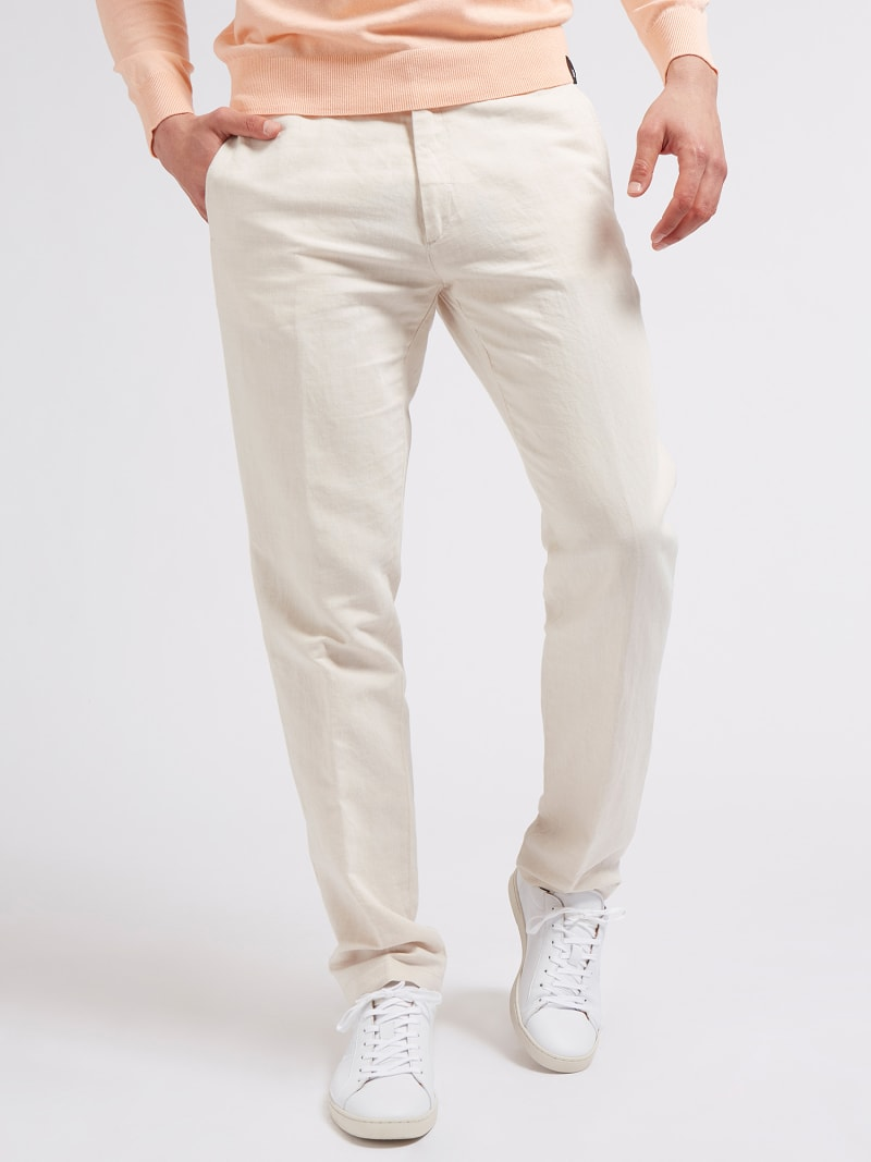 MARCIANO LINEN PANT image number 0