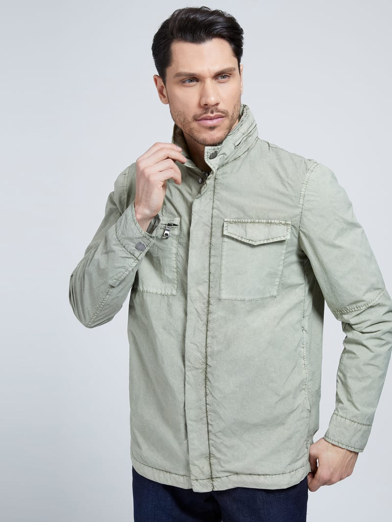 MARCIANO GARMENT-DYED JACKET  image number 0