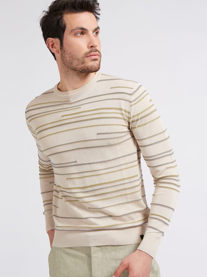 MARCIANO STRIPED SWEATER image number 0