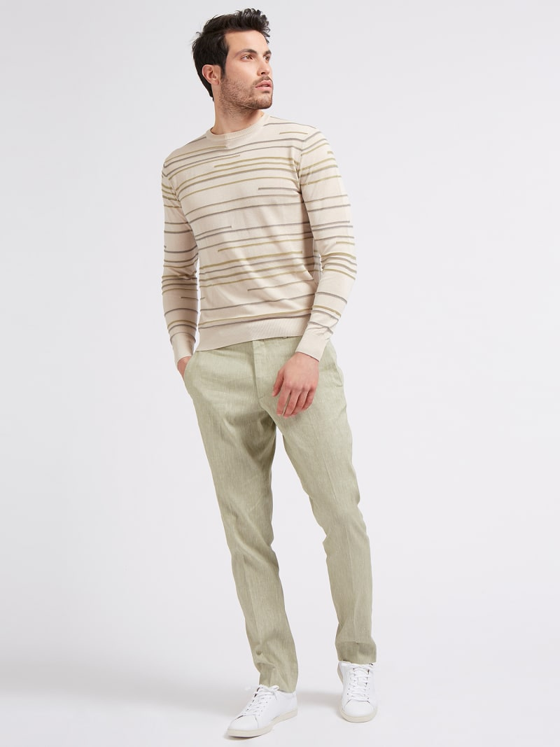 MARCIANO STRIPED SWEATER image number 1