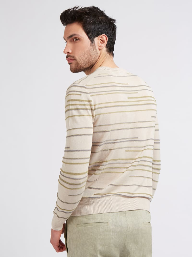 MARCIANO STRIPED SWEATER image number 2