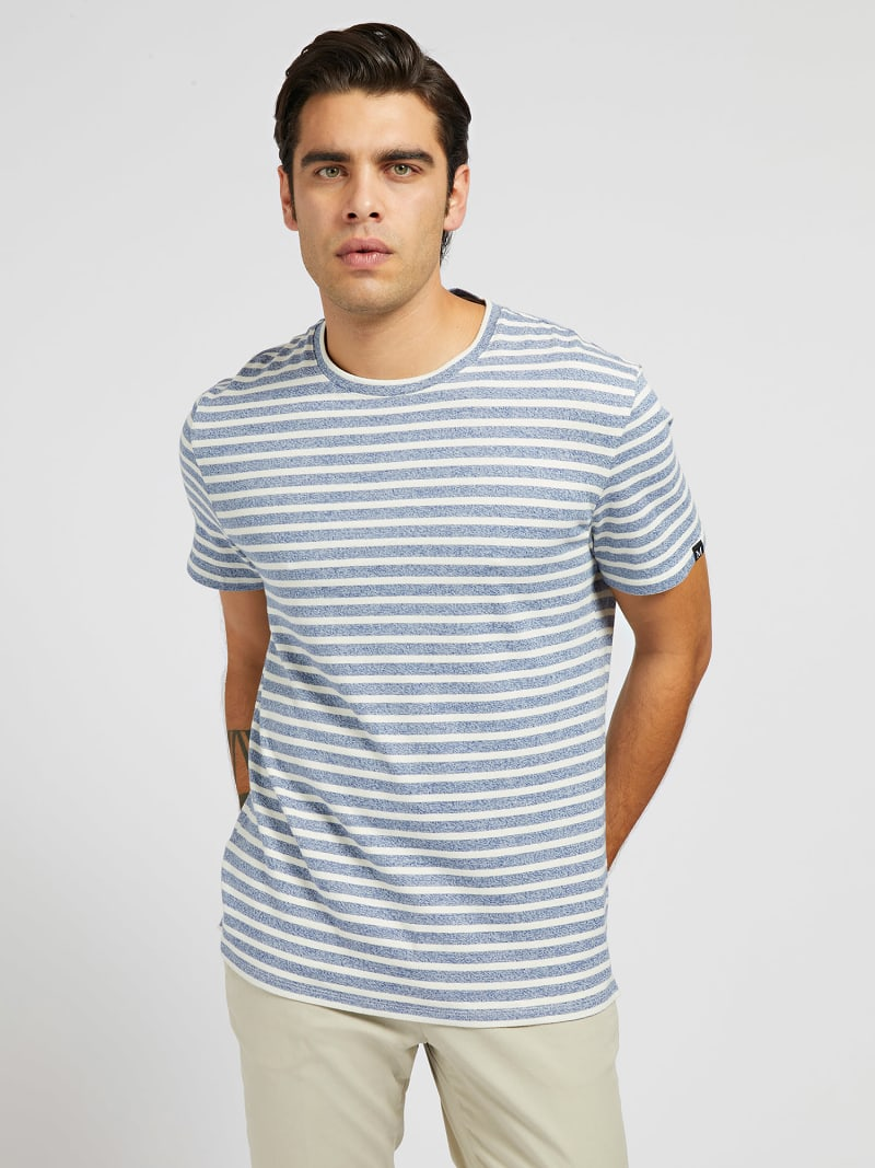 MARCIANO YARN-DYED T-SHIRT image number 0