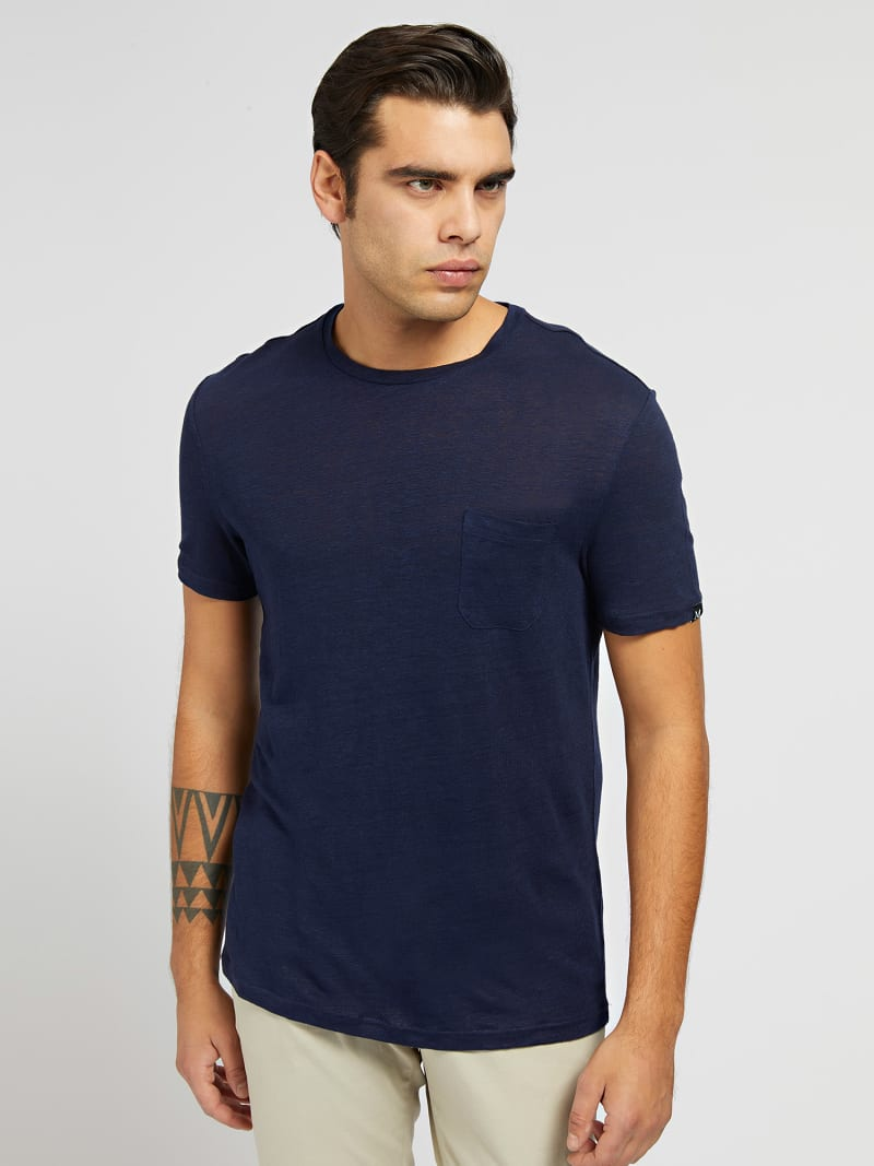MARCIANO LINEN T-SHIRT image number 0
