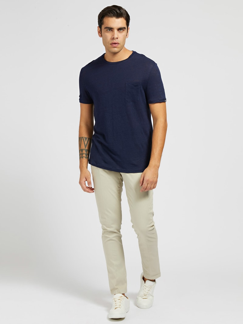 MARCIANO LINEN T-SHIRT image number 1