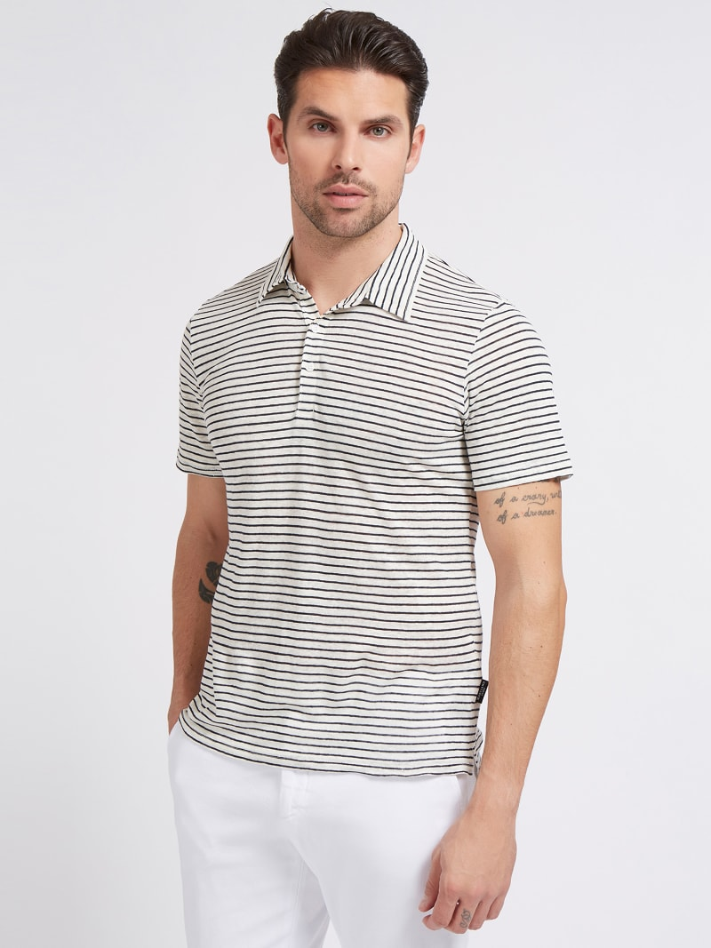 MARCIANO LINEN POLO SHIRT image number 0