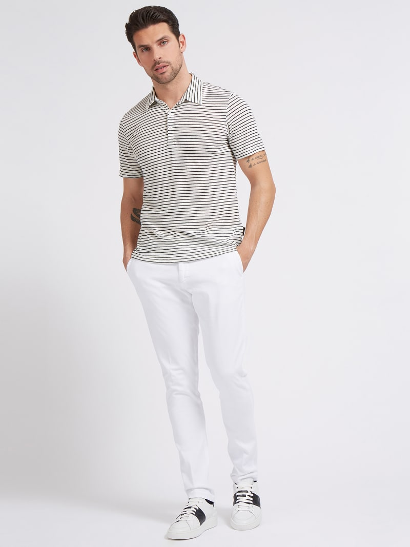 MARCIANO LINEN POLO SHIRT image number 1