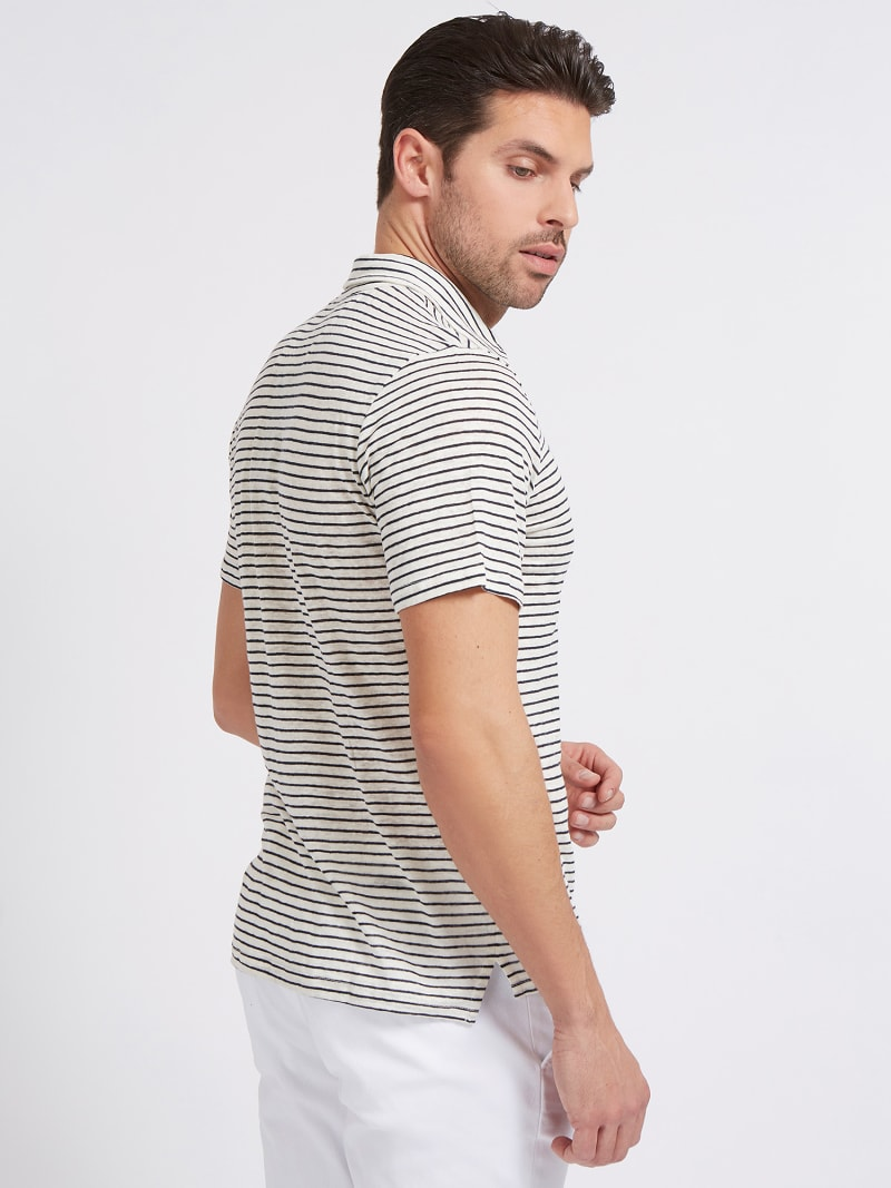 MARCIANO LINEN POLO SHIRT image number 2