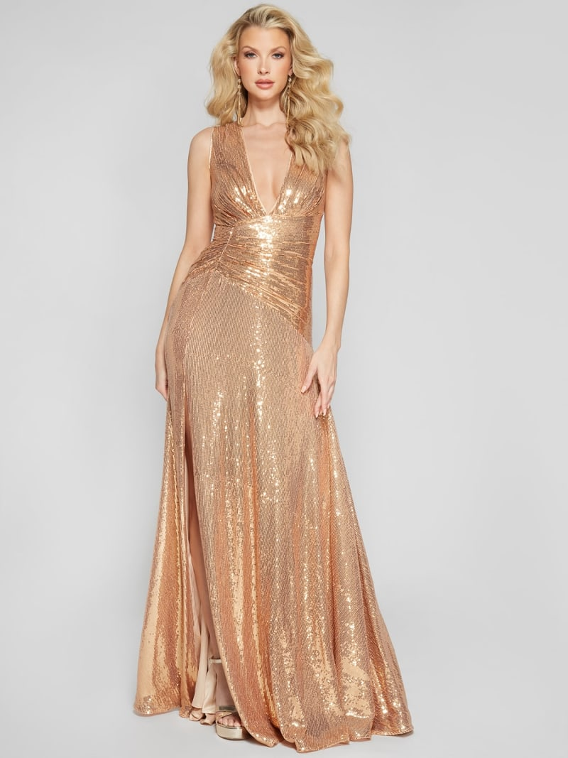 ROBE LONGUE PAILLETTES MARCIANO image number 1