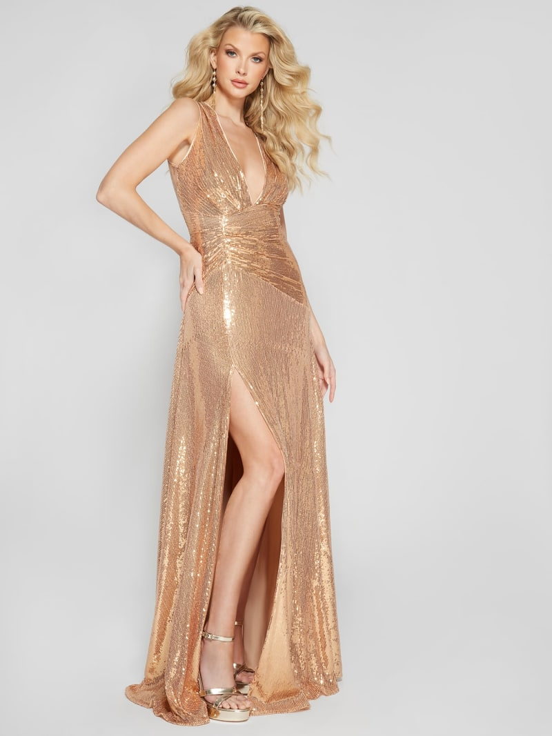 ROBE LONGUE PAILLETTES MARCIANO image number 2