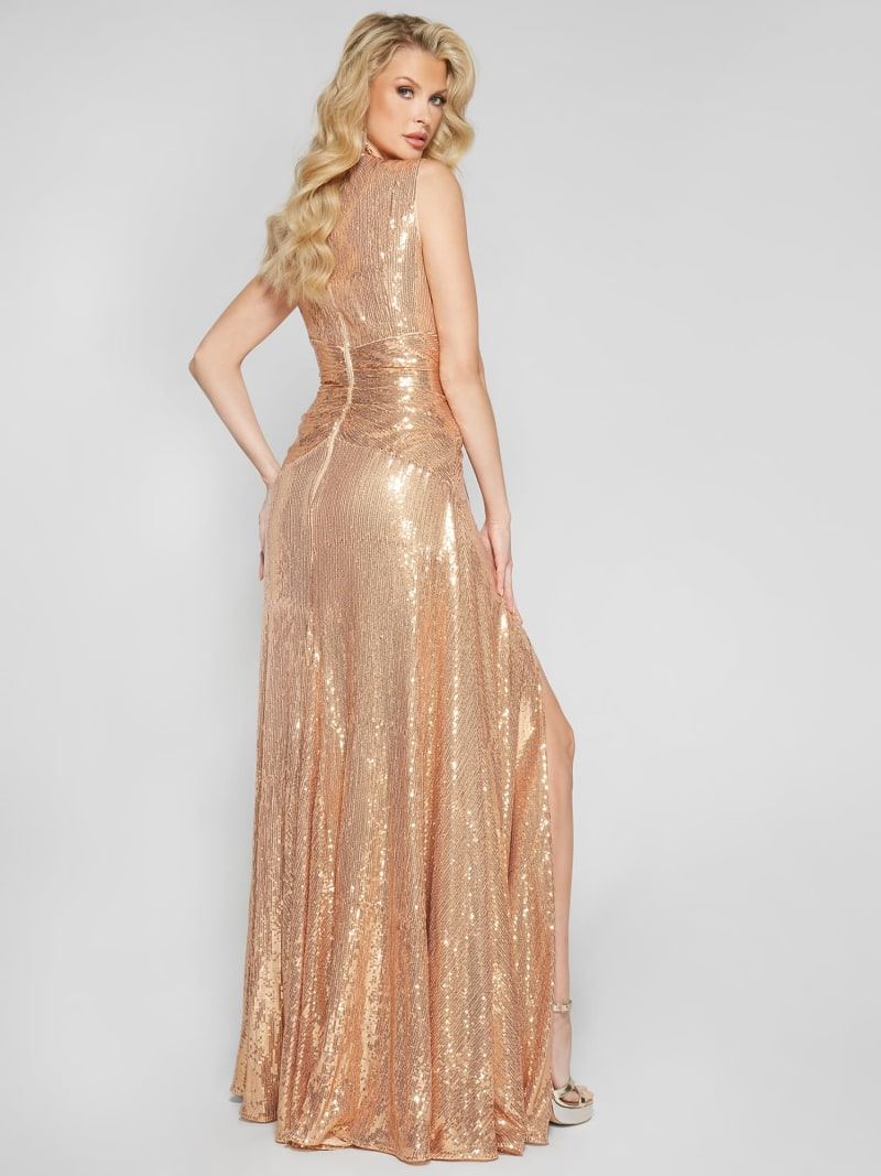 ROBE LONGUE PAILLETTES MARCIANO image number 4