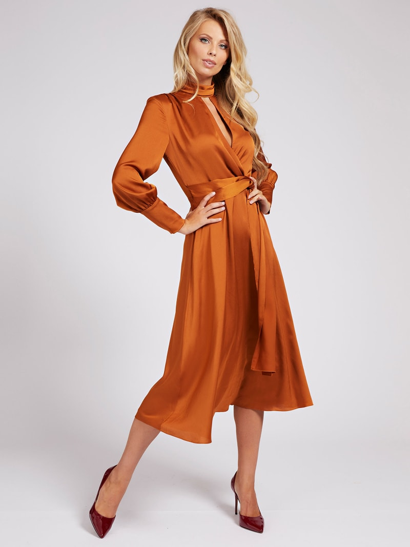 MARCIANO BELTED MIDI DRESS image number 0