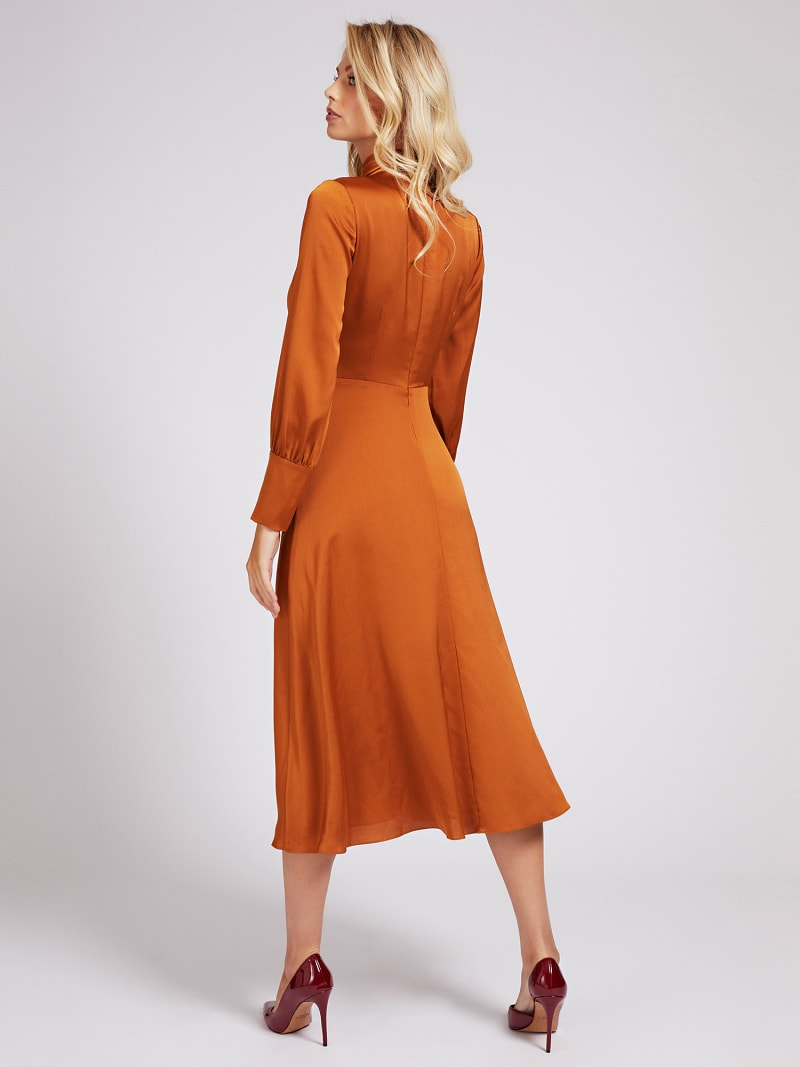 MARCIANO BELTED MIDI DRESS image number 1
