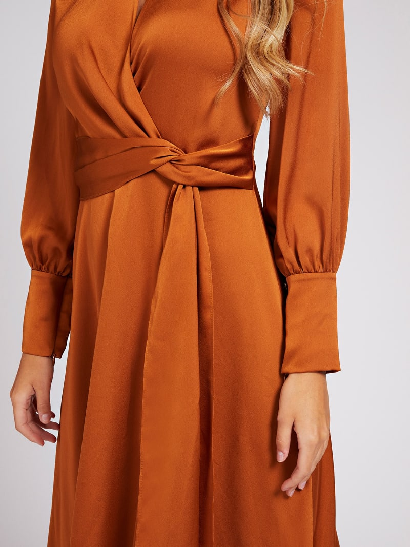 MARCIANO BELTED MIDI DRESS image number 2