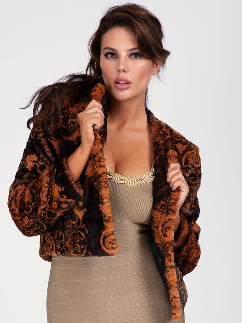 MARCIANO FAUX FUR JACKET image number 0