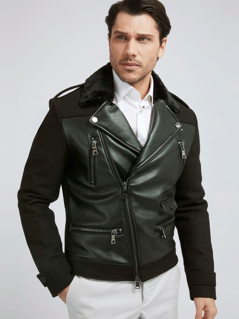 MARCIANO COATED-LOOK JACKET image number 0