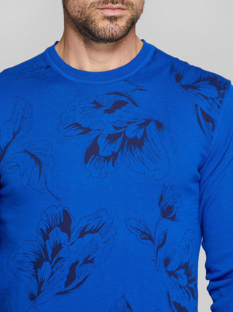 MARCIANO FLORAL PRINT SWEATER image number 2